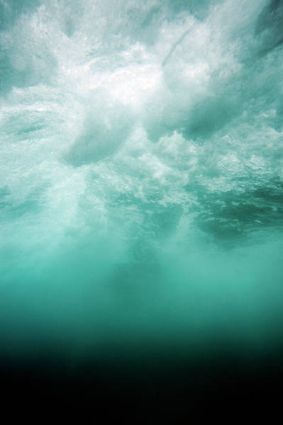 Vertical Abstract Photograph - Underwater Abstract by Davidf