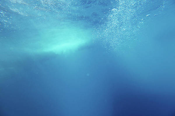 Underwater Photograph - Underwater Background With Wave And by Georgepeters