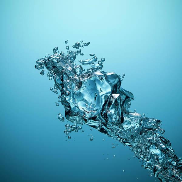 Underwater Photograph - Underwater Bubbles - Oxygen Water Blue by Thomasvogel