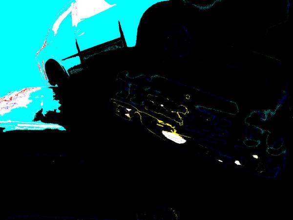 Digital Art - Underwater Car by Artist Dot