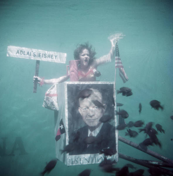 Election Photograph - Underwater Ike Supporter by John Dominis