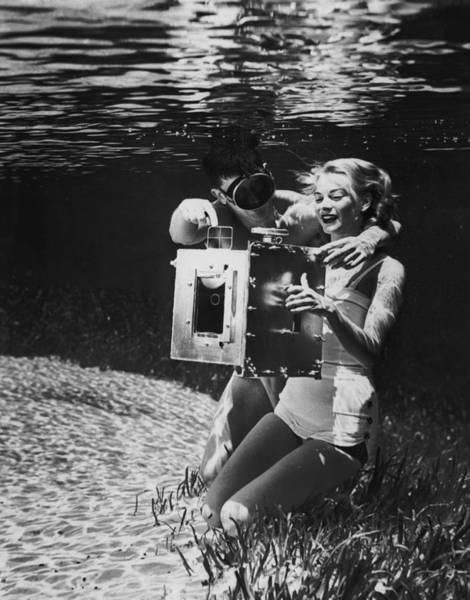 Underwater Camera Photograph - Underwater Photo by George Pickow