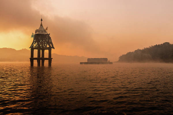 Thai Photograph - Underwater Temple by Nobythai