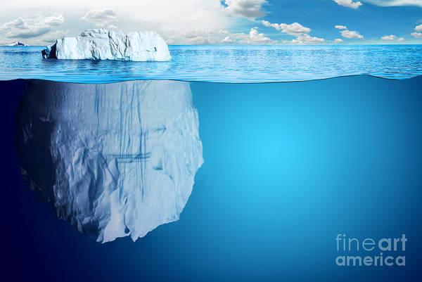 Wall Art - Digital Art - Underwater View Of Iceberg With by Niyazz