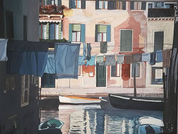 Wall Art - Painting - Une Certaine Ruelle De Venise by Nadine Raya