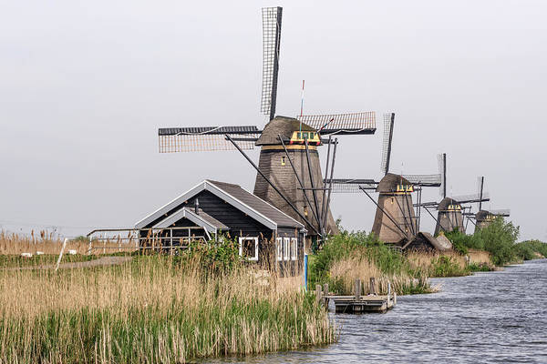 Photograph - Unesco Windmills In Kinderdijk by Wolfgang Stocker