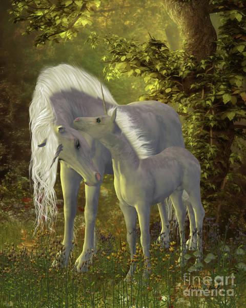 Unicorn Horn Digital Art - Unicorn Bonding by Corey Ford