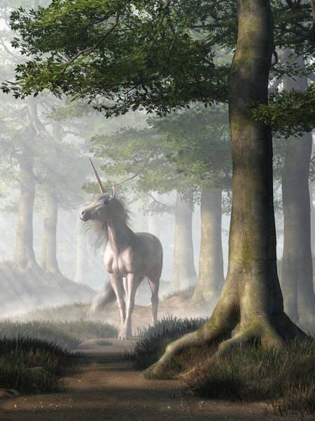 Digital Art - Unicorn Trail by Daniel Eskridge