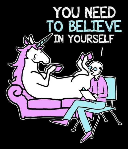 Psychiatrist Digital Art - Unicorn You Need To Believe In Yourself by Passion Loft
