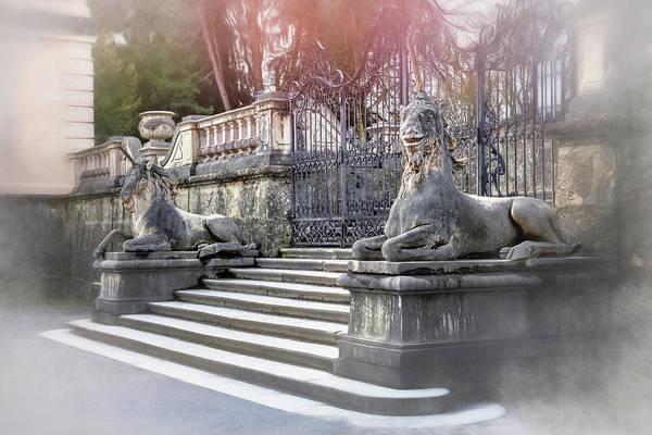 Schloss Wall Art - Photograph - Unicorns Of Mirabell Gardens Salzburg Austria by Carol Japp