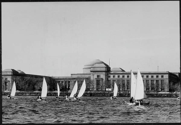 Campus Photograph - Unident. Student Sailors Negotiating Din by Gjon Mili
