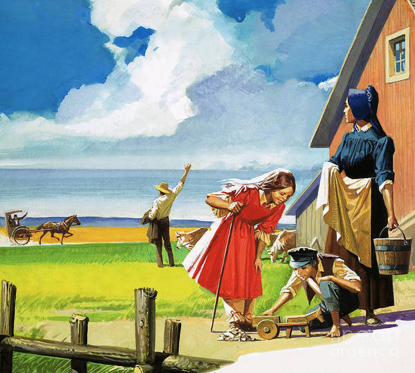 Wall Art - Painting - Unidentified American Rural Scene  by English School