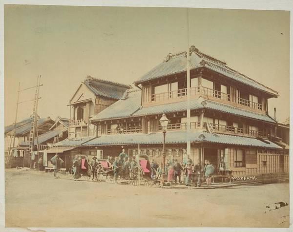 Painting - Unidentified Hotel, Yokohama, Japan Ca. 1880 by Celestial Images