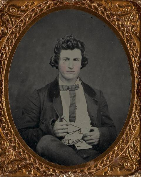 Painting - Unidentified Man Ca. 1870 by Celestial Images