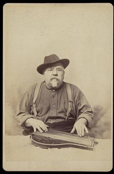 Painting - Unidentified Man With Zither Ca. 1890 by Celestial Images