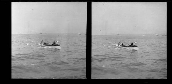 Motorboat Photograph - Unidentified Motorboat by The New York Historical Society