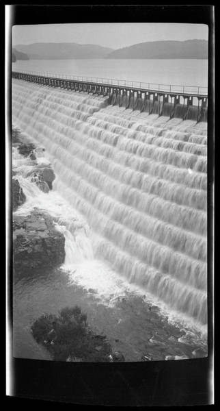 Spillway Photograph - Unidentified Reservoir Spillway by The New York Historical Society