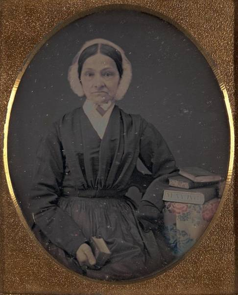 Painting - Unidentified Woman With Books May 1853 by Celestial Images