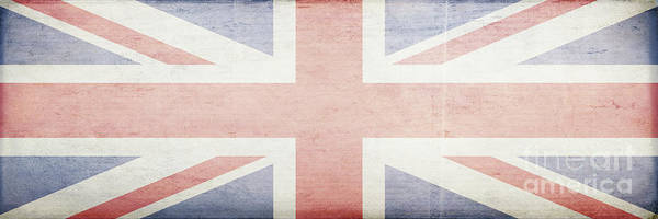 Wall Art - Photograph - Union Jack Faded British Flag Design by Edward Fielding