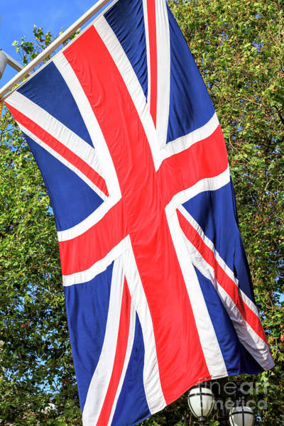 Photograph - Union Jack On The Mall In London by John Rizzuto