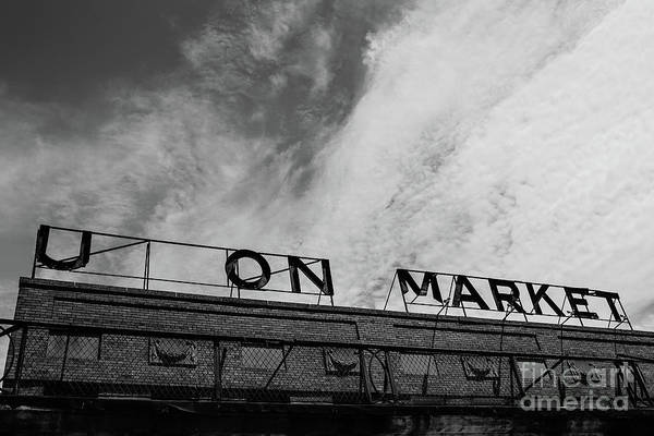 Wall Art - Photograph - Union Market The Original Sign Washington Dc by Edward Fielding