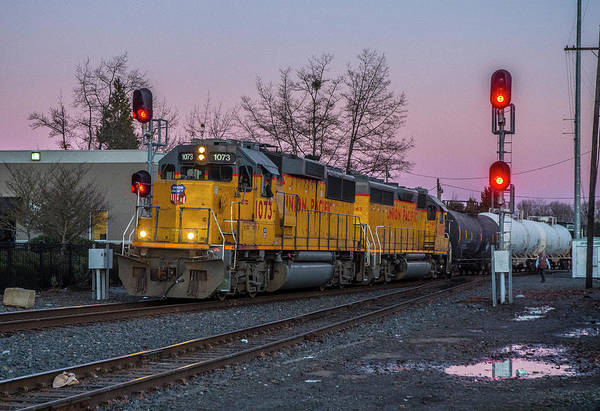 Photograph - Union Pacific Highball Freight by Matthew Irvin