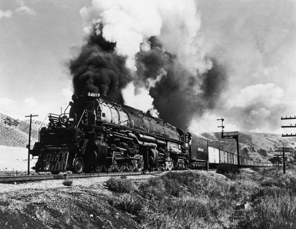 Hackett Photograph - Union Pacific Train by Gabriel Hackett