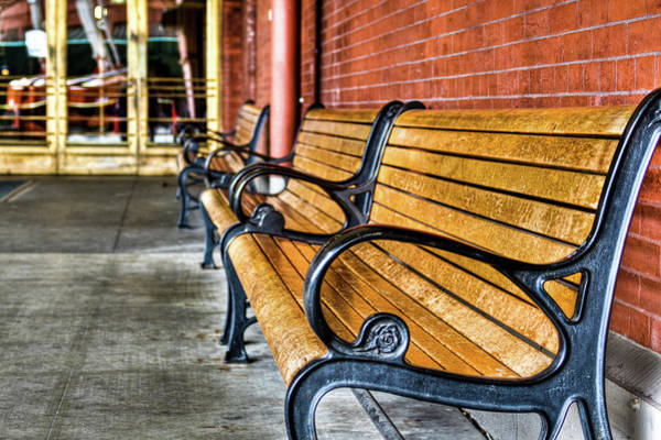 Photograph - Union Station Bench Closeup by Jean Noren