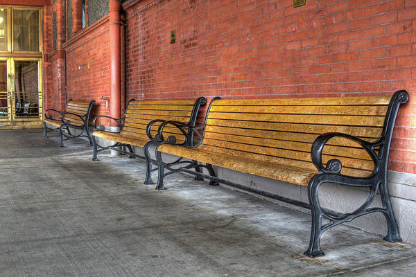 Photograph - Union Station Bench by Jean Noren