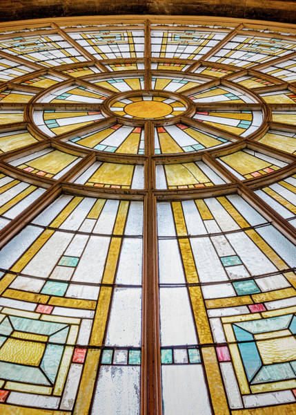 Wall Art - Photograph - Union Station Glass - Indy #10 by Stephen Stookey