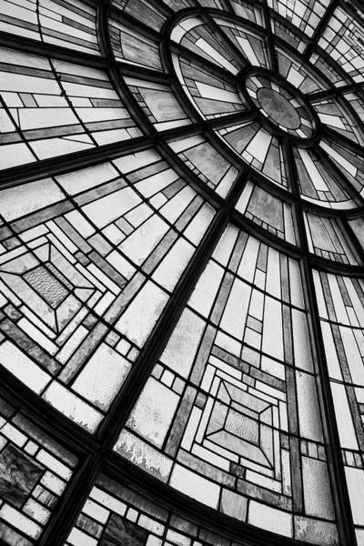 Wall Art - Photograph - Union Station Glass - Indy #2 by Stephen Stookey