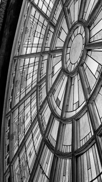 Wall Art - Photograph - Union Station Glass - Indy #7 by Stephen Stookey