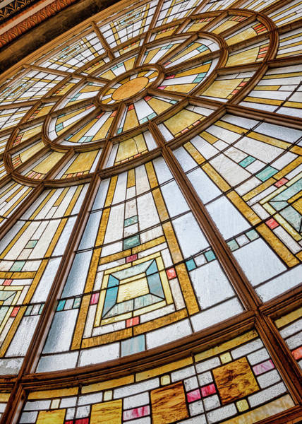 Wall Art - Photograph - Union Station Glass - Indy #8 by Stephen Stookey