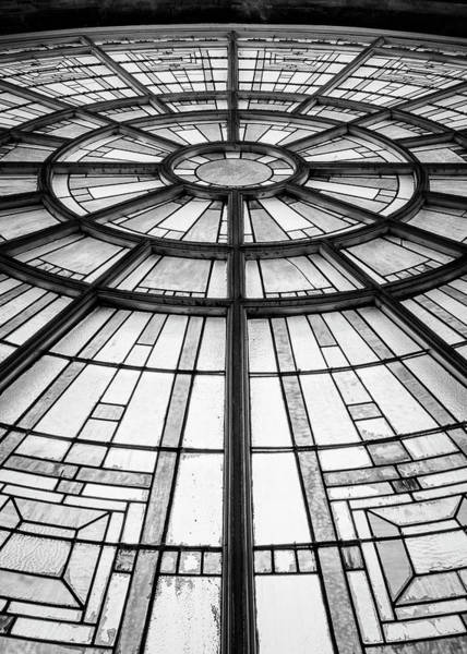 Wall Art - Photograph - Union Station Glass - Indy #9 by Stephen Stookey