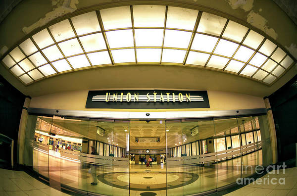 Photograph - Union Station Interior Fisheye In Chicago by John Rizzuto