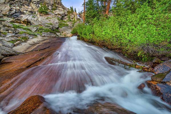 Photograph - Unique Cascade by Leland D Howard