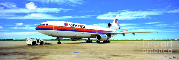 Photograph - united DC10-30 white livery  by Tom Jelen