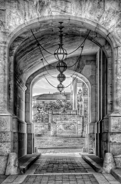 Us Capitol Photograph - United States Capitol - Archway Black And White by Marianna Mills