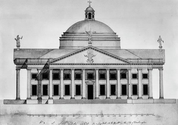 Capitol Digital Art - United States Capitol Design By Samuel by Encyclopaedia Britannica/uig