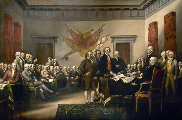 Wall Art - Painting - United States Declaration Of Independence, July 4, 1776 by John Trumbull