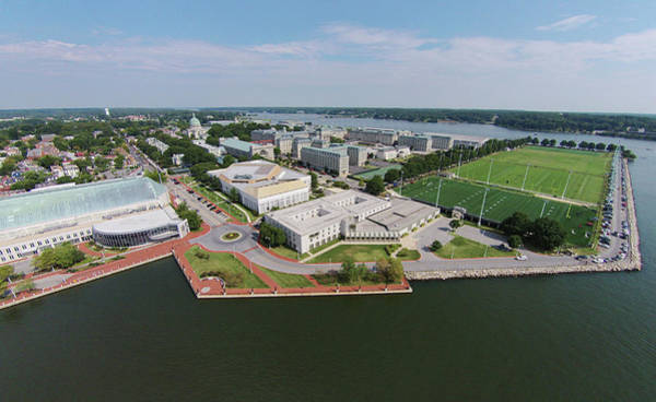 Photograph - United States Naval Academy On The Severn by Mark Duehmig