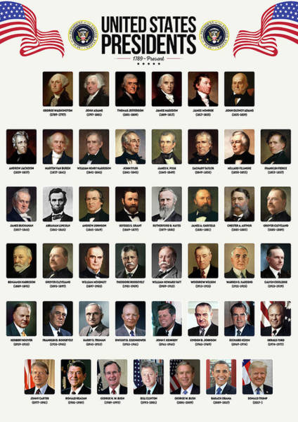 Wall Art - Digital Art - United States Presidents by Zapista Zapista