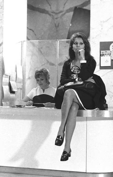 Photograph - Unitl Sophia Loren Sat On The by New York Daily News Archive