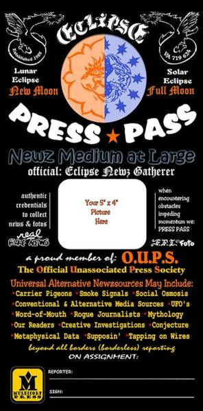 Digital Art - Universal Press Pass by Dawn Sperry