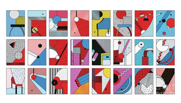 Wall Art - Digital Art - Universal Vector Seamless Patterns Set by Softulka