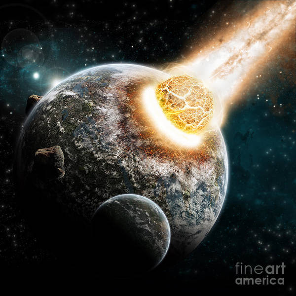 Wall Art - Digital Art - Universe And Planet Exploration - Earth by Sdecoret