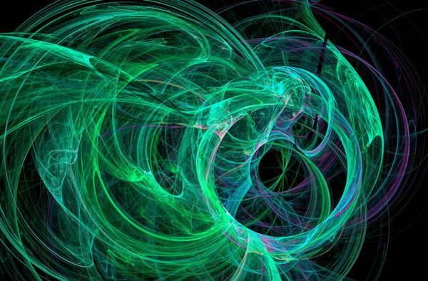 Digital Art - Universe Major Abstract Art Green by Don Northup