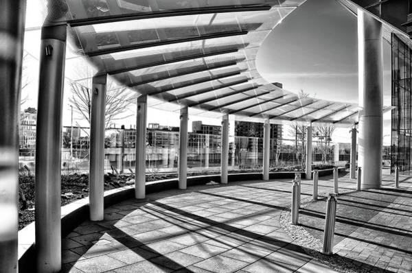 Wall Art - Photograph - University City - Fmc Building Walkway by Bill Cannon