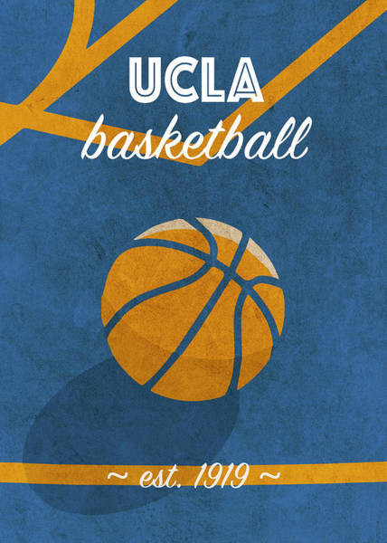 Wall Art - Mixed Media - University Of California Retro College Basketball Team Poster by Design Turnpike