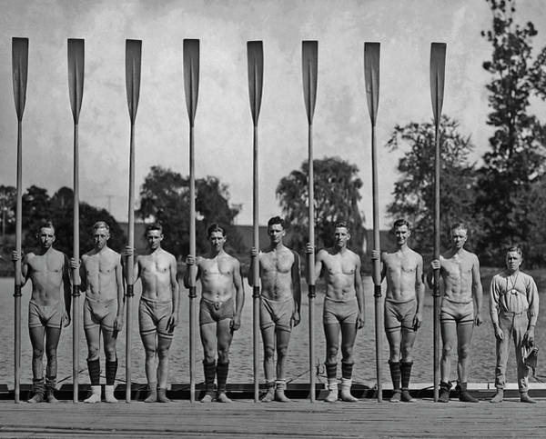 Rowing Wall Art - Photograph - University Of California Rowing Team by Paul Thompson/fpg